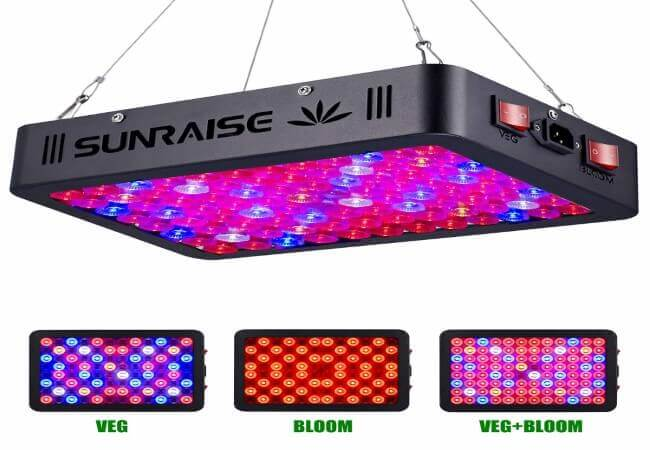 1000W LED Grow Light Full Spectrum for Indoor Plants Veg and Flower SUNRAISE LED Grow Lamp
