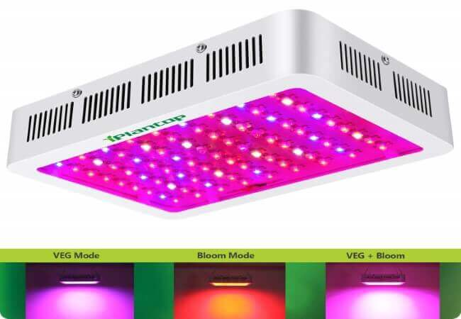 1000w LED Grow Light with Bloom and Veg Switch,iPlantop Triple-Chips LED Plant Growing Lamp Full Spectrum with Daisy Chained Design for Professional