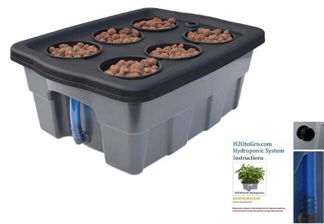 Complete Hydroponic DWC System Grow Box kit - #4-4 H2OToGro