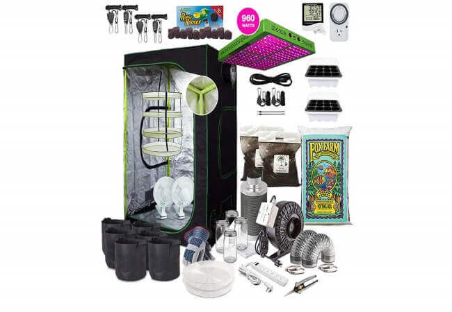 TheBudGrower.com Complete Indoor Grow Kit with Fan, Soil,