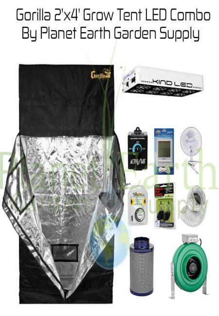 Gorilla Grow Tent (2' x 4') LED Combo Package