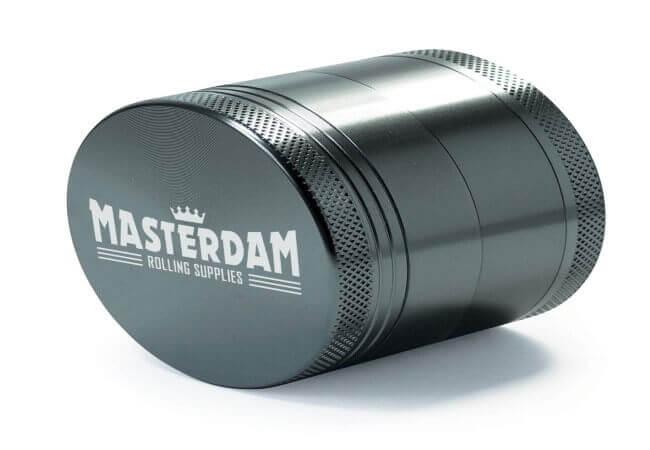 Masterdam Grinders 4-Piece Anodized Aluminum Herb Grinder with Pollen Catcher - Standard 2.2 Inch