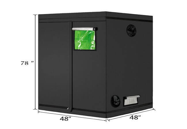 Oshion 4x4x6.5 FT Indoor Hydroponics Mylar Grow Tent Room
