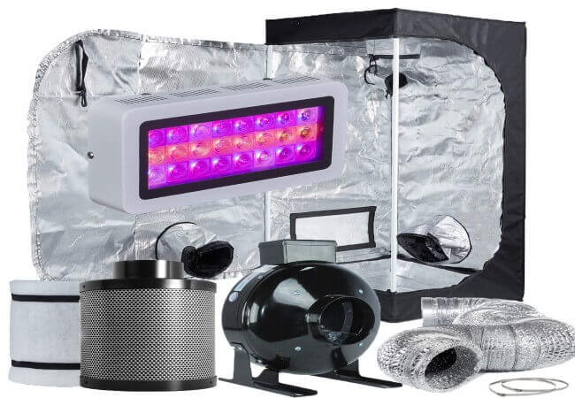 TopoLite Grow Tent Room Complete Kit Hydroponic Growing System LED Multiple Size Dark Room