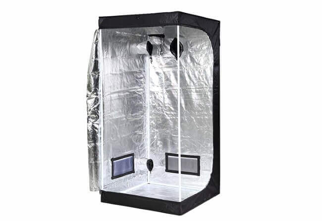 iPower 32x32x63 Hydroponic Mylar Grow Tent with Observation Window, Tool Bag and Floor Tray for Grow Light and Indoor Plant Growing