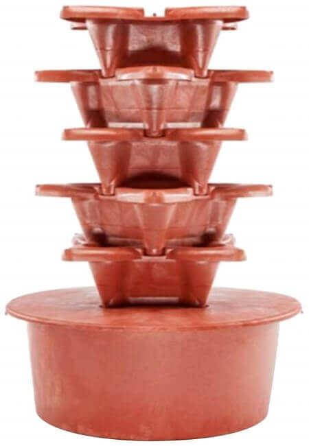 Grow Up HGTC Vertical Hydrogarden Deluxe Planter Kit, 2.15-Feet by 4-Feet, Terra Cotta