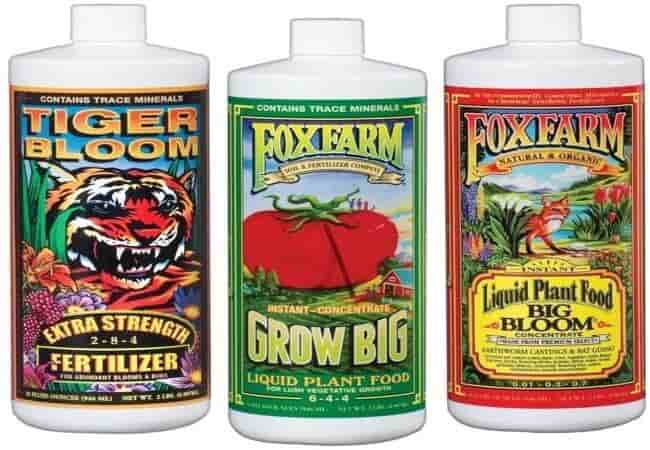 Fox Farm FX14049 Liquid Nutrient Trio Soil Formula Big Bloom, Grow Big, Tiger Bloom