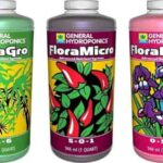 General Hydroponics Flora Grow, Bloom, Micro Combo Fertilizer set, 1 Quart