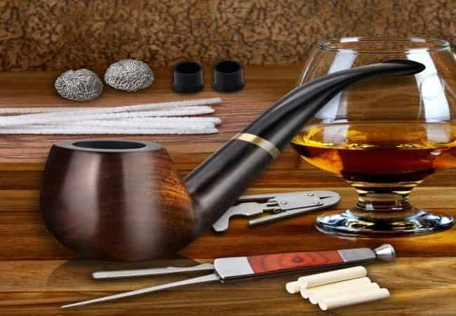 Scotte Tobacco Pipe Handmade Ebony Wood Root Smoking Pipe